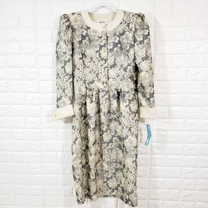 NWT Vintage Leslie Fay collection dress.Size 10.